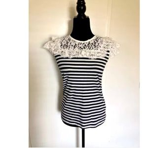 Tommy Hilfiger Ocean Drive Stripes and Lace Top